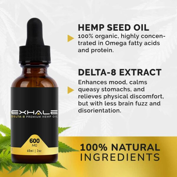 hemp seed oil delta-8 extract 100% natural ingredients