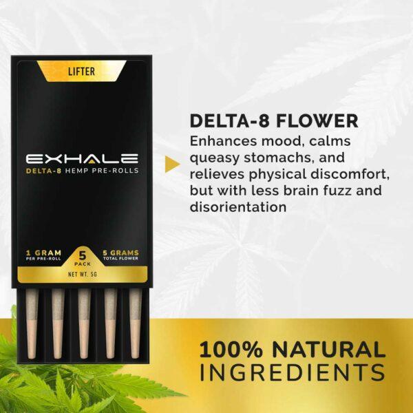 delta-8 flower 100% natural ingredients