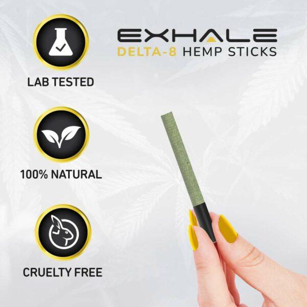 lab tested 100% natural cruelty free delta-8 hemp stick cigarettes