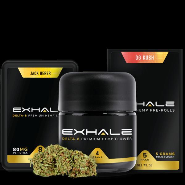 Exhale Delta 8 Bundles Hemp Sticks Pre Rolls Hemp Flower