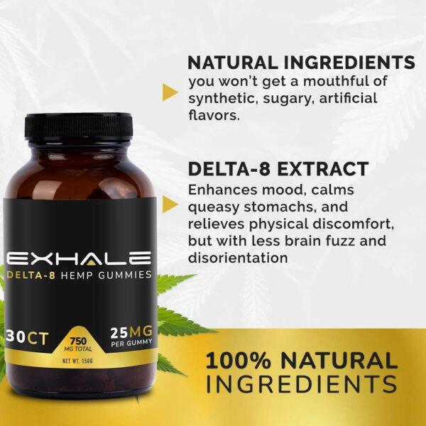 100% natural ingredients delta-8 extract 100%