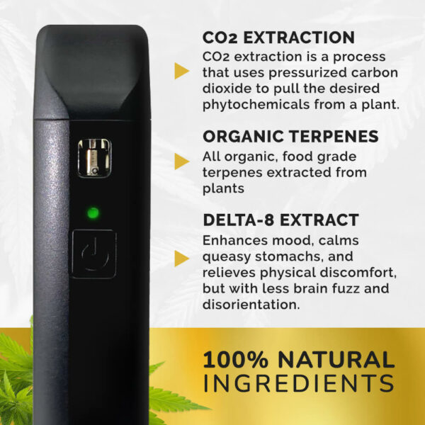 co2 extraction organic terpenes delta-8 extract 100% natural ingredients